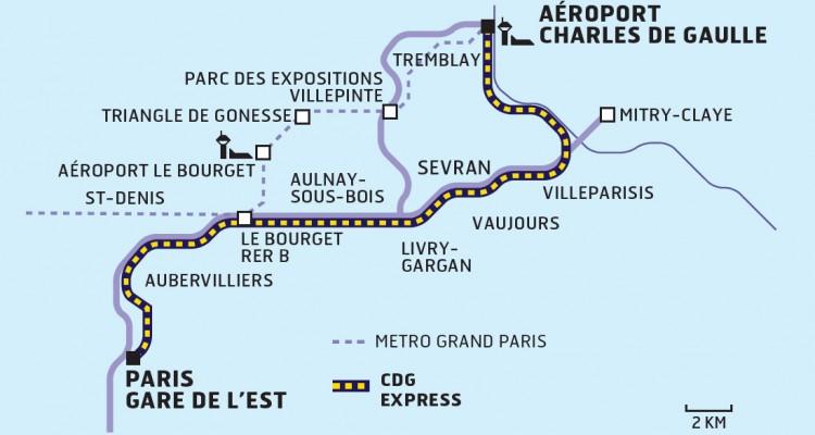 tracé du CDG Express