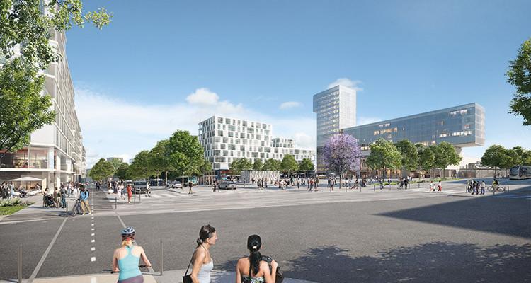 place de la gare Des Ardoines, vitry-sur-seine, grand paris développement