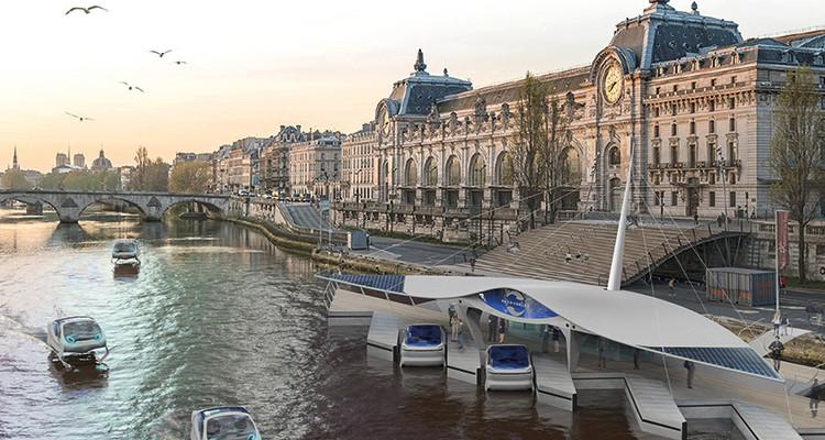 Projet de dock SeaBubbles devant le musée d'Orsay - grand paris développement