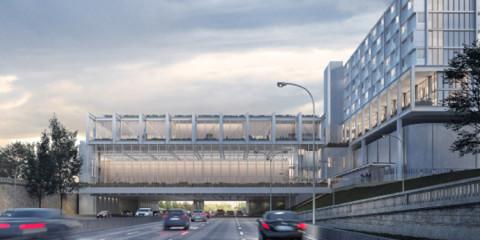 Projet de résidence étudiante au-dessus et autour du périphérique à la Porte de Vincennes (12e)