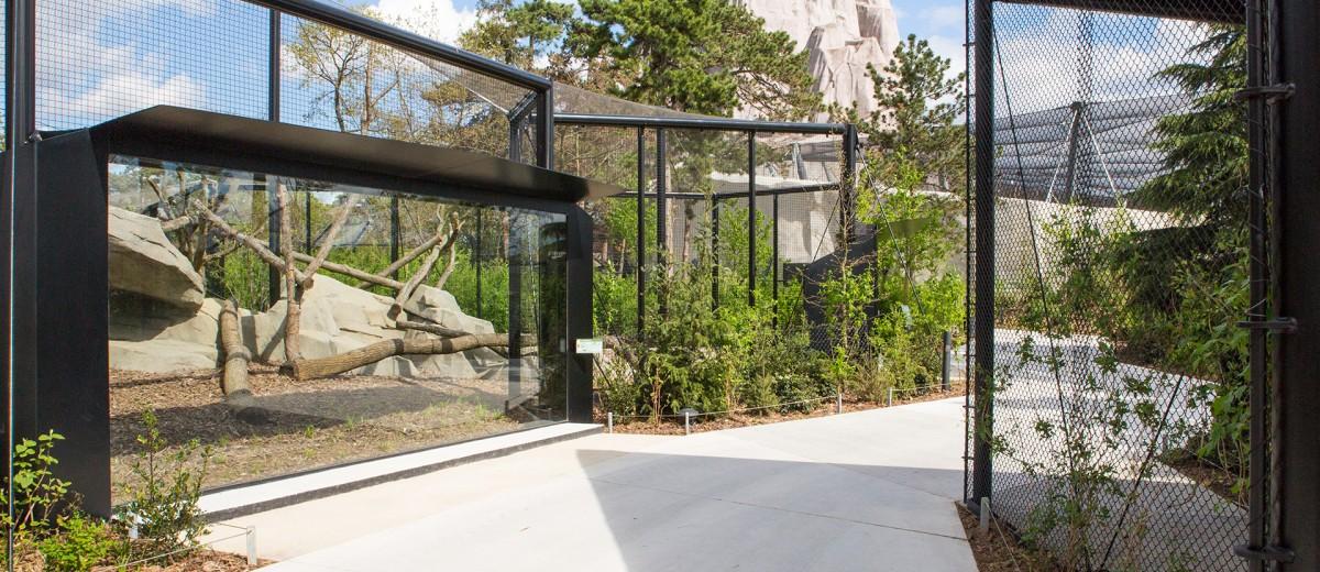 Au zoo de Vincennes, les parcours thématiques sont organisés en biozones