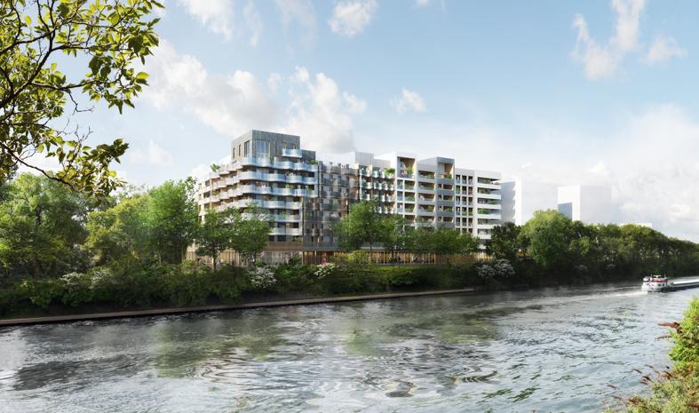 éco quartier fluvial sur l'ile de Saint Denis