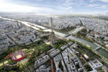 Le champs de mars, paris, JO 2024, grand paris développement